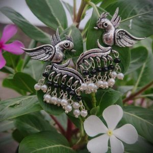 Original German Silver Bird Earring - Free Delivery All Over India