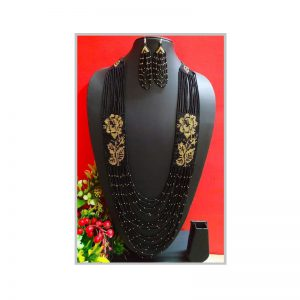 Handmade Black-Yellow Color Jeco Necklace