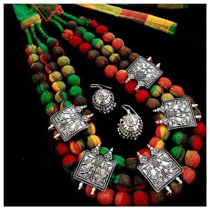 EcoHindu-Multicolor-Cotton-Balls-Necklace-Handmade-Jewellery-26September