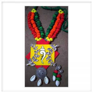 ecohindu-Cotton-thread-bol-with-Fabric-Pendent-set-handmadejewellery-26september