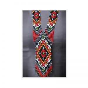 Handmade multiclolor jeco long necklace