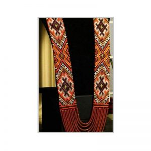 Handmade multiclolor red layer jeco necklace