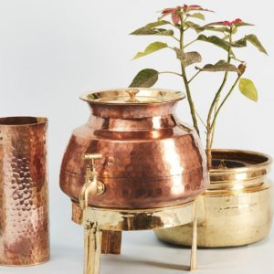 Copper jug (cylindrical)