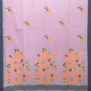 MulMul cotton saree in baby pink