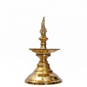 PLAIN TABLE LAMP MADE OF BRASS- 8 INCH