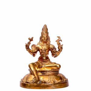 Brass Sitting Siva