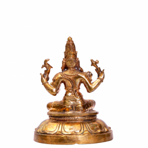 BRASS SITTING SIVA ONLY A/F - 4 INCH