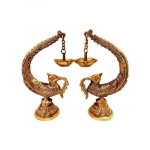 Ecohindu-Brass-Hanging-Diya-PeacockPair-PoojaMaterial-20thNov2019