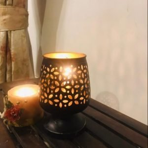 IRON HANDICRAFT CANDLE HOLDER SML, IRON CUTWORK CANDLE HOLDE FOR HOME, HOME DECOR